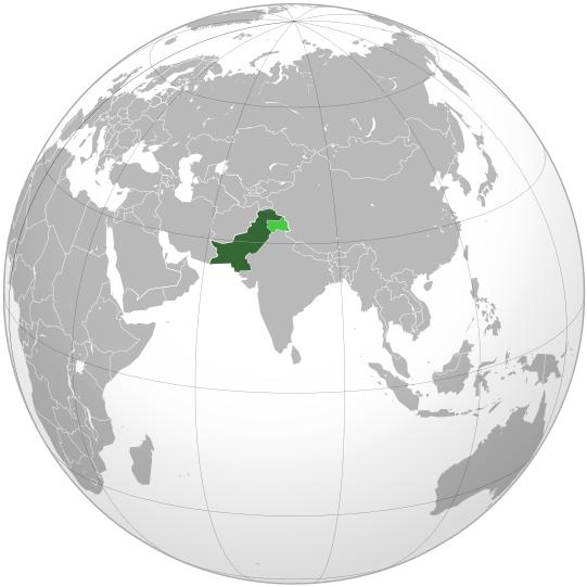 pakistan mapa globo