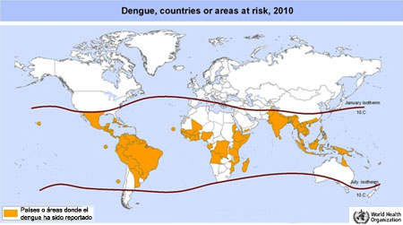 dengue mapa distribucion 2010